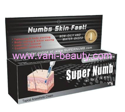newest and hot sale tattoo anesthetic Super Numb Skin Numbing Creams, SK009