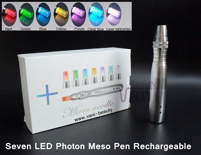 VANI Surgical Derma Pen Instrument Seven LED Photon Meso Pen, AU035